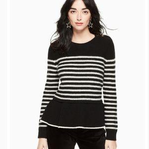 Kate Spade Broome Street Stiped Peplum Sweater